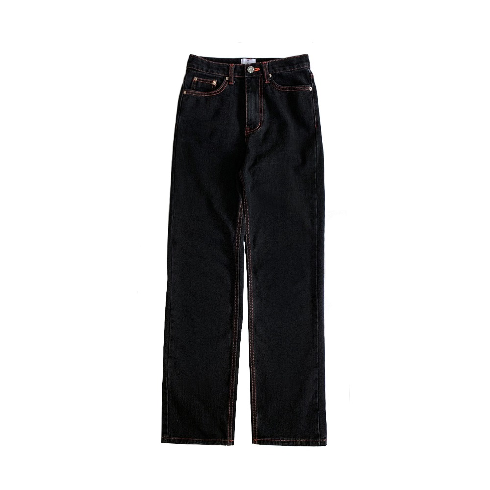 Black high-rise loose jeans