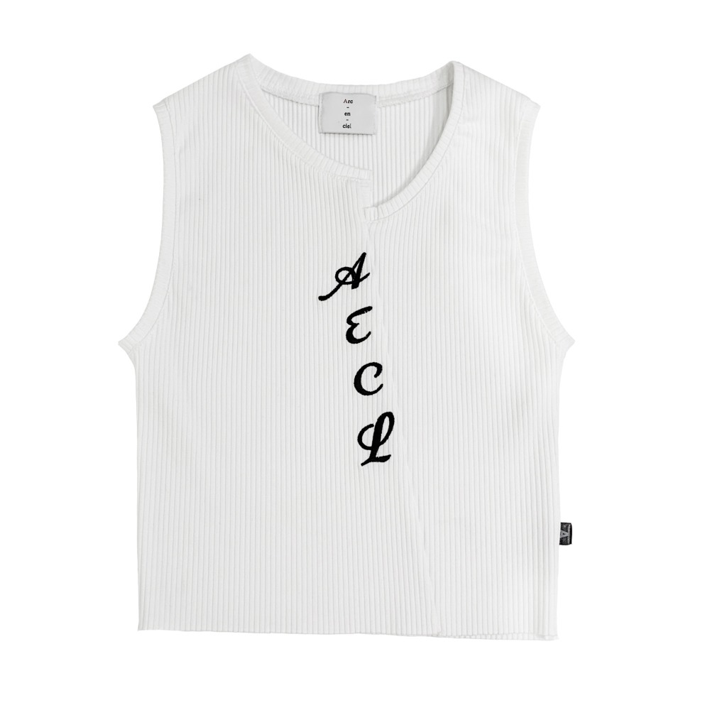 AECL logo sleeveless (White)